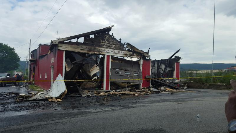 Massive Fire Destroys Great Cacapon Fire Station and Apparatus