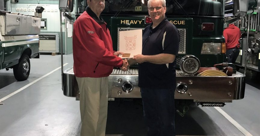 50 Year Member Presentation-William Mayles Jr. Potomac Fire Company #2
